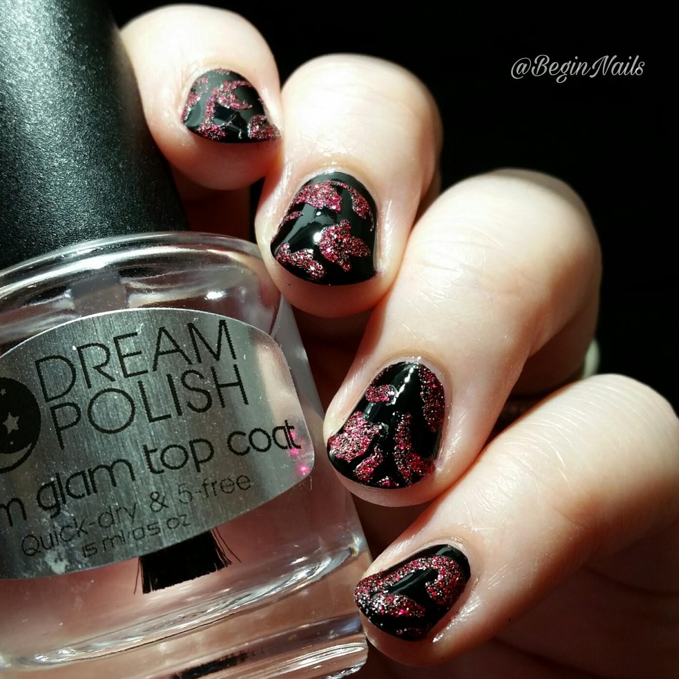 Let\'s Begin Nails: Digit-al Dozen: Vampy Textured Pattern