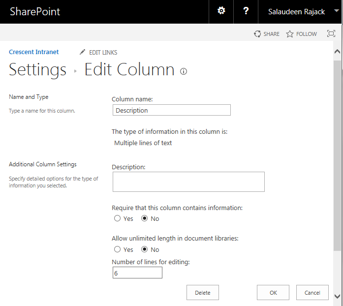 sharepoint document library rich text field