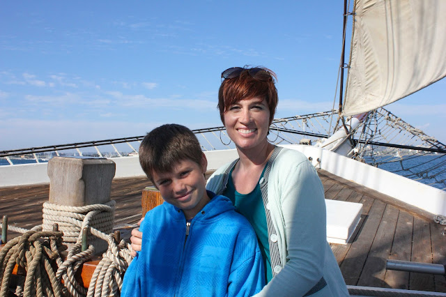owen and i on our early exploration homeschool field trip