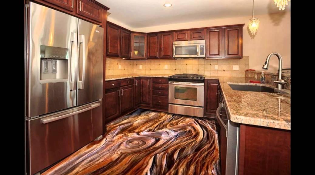 3d Kitchen Floor Murals With Epoxy Coating