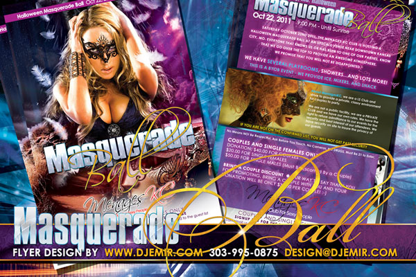 Masquerade Ball Halloween Flyer Design