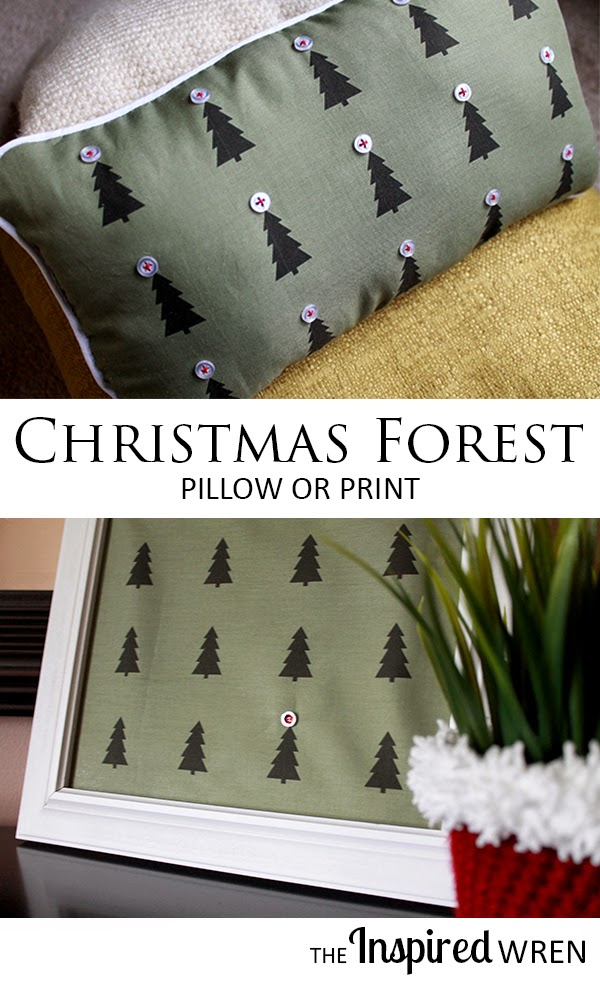 Christmas Forest Pillow or Print for the 12 Days of Christmas Holiday Blogger Challenge