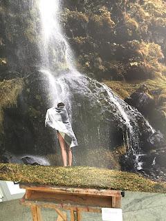Ausstellung Icelandskin von Anne Moldenhauer im KulturFoyer Bad Marienberg Foto Wasserfall
