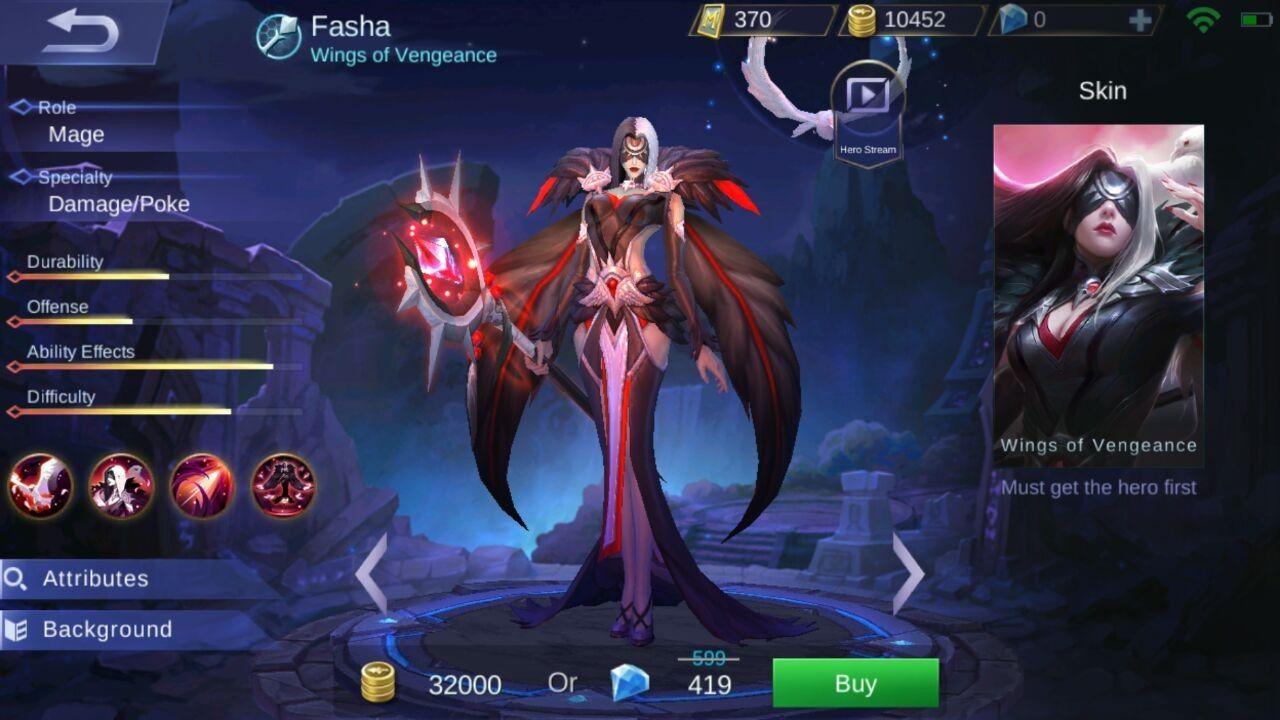 Skill Fasha Hero Mage Terbaru Mobile Legends