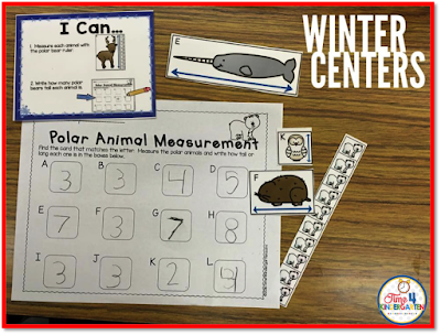 measurement math center, Time 4 Kindergarten,  Math stations