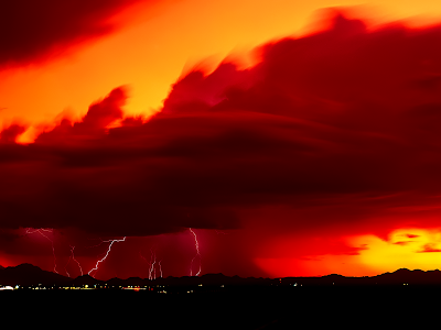 Stormy Weather wallpaper, lightning storm, nature