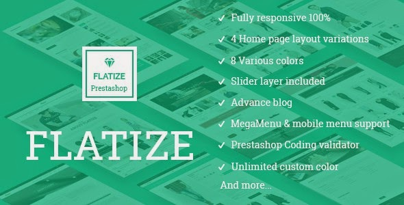 Flatize responsive prestashop theme
