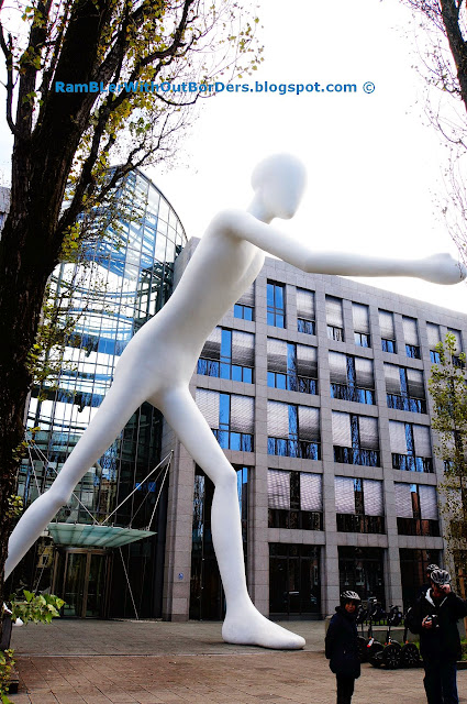 Walking Man Sculpture, Munich, Germany