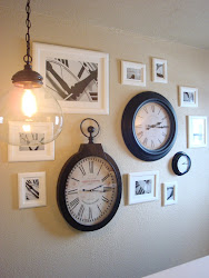 PotteryBarn Inspired Clock Wall