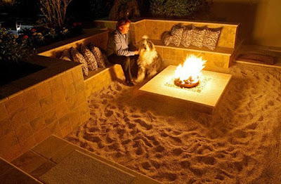 Back Yard Beach- Themed Fire Pit