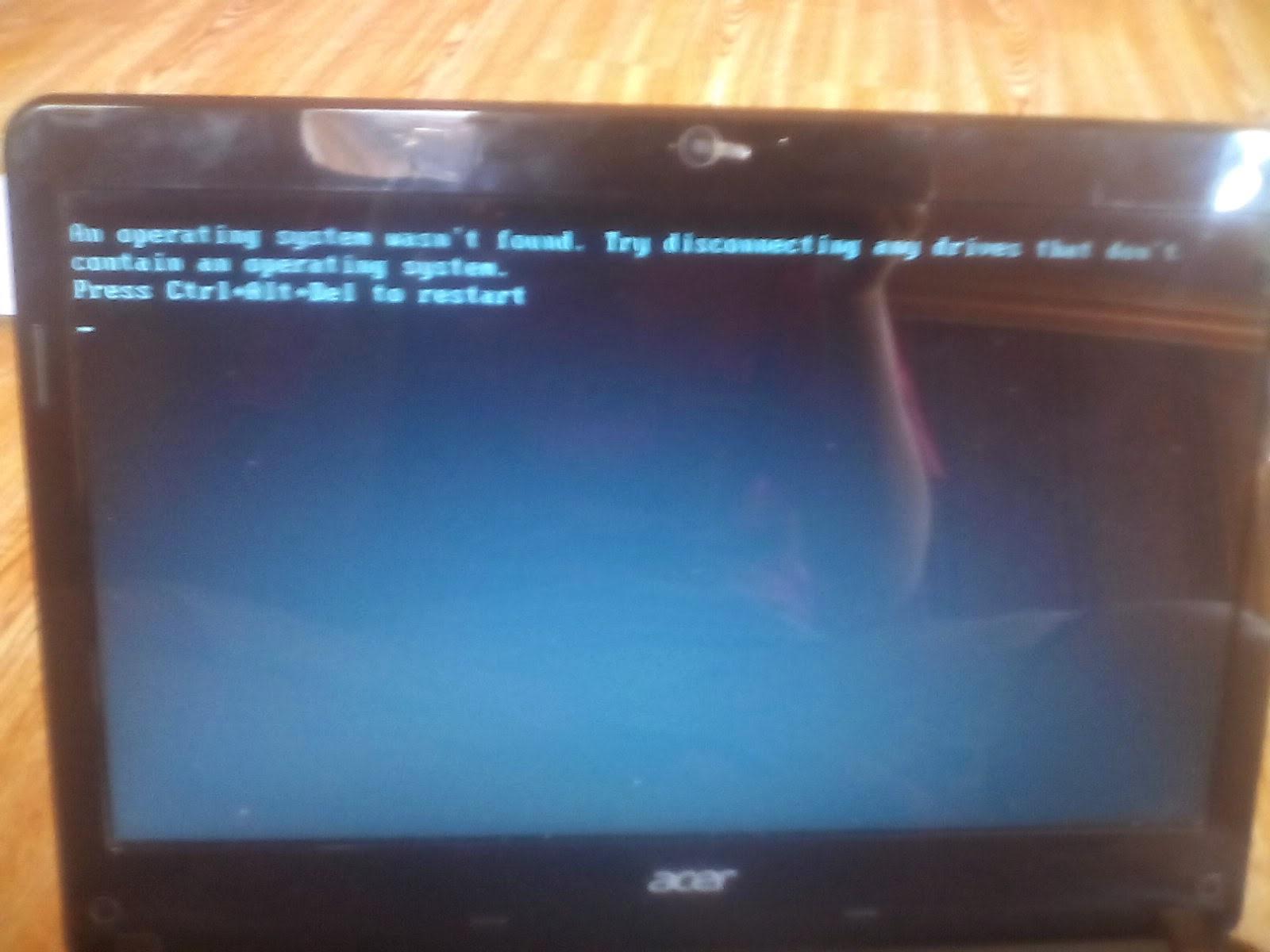 Cara Mengatasi An Operating System Wasn't Found