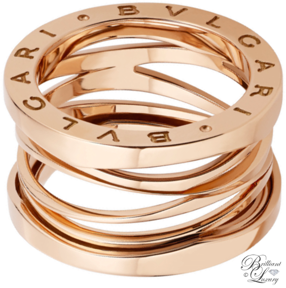 Brilliant Luxury ♦ Bvlgari B.Zero1 Design Legend by Zaha Hadid 4-Band 18 kt rose gold ring