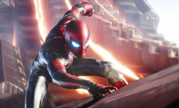 Spider-Man in his new Iron Spider suit in AVENGERS: INFINITY WAR (2018)