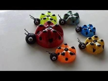 Idea to make something from bottle for kids : ladybug
