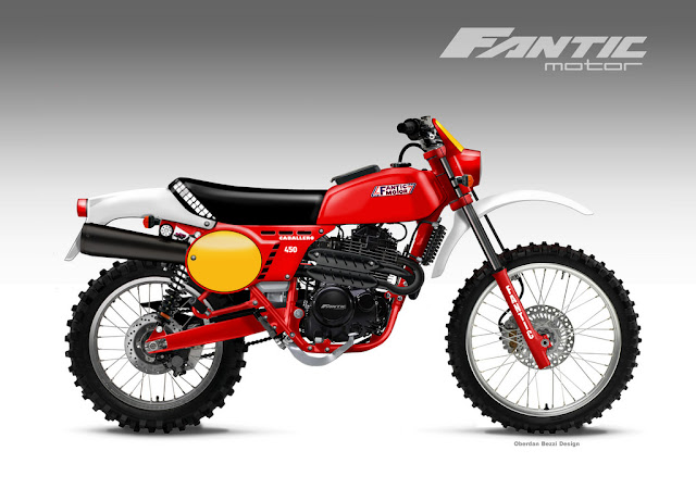 Fantic Caballero 450 Concept Design by Oberdan Bezzi Design