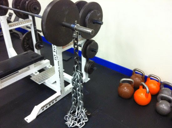 Accommodating resistance elitefts bench