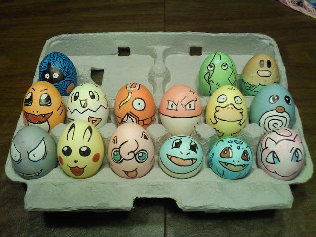 Pokemony jako jajka