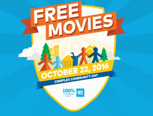 Cineplex Odeon Free Movies Community Day