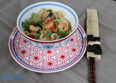 Carole's Chatter: Prawn & Spinach Noodles