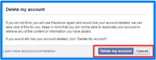 Simple Way to Delete Facebook Account