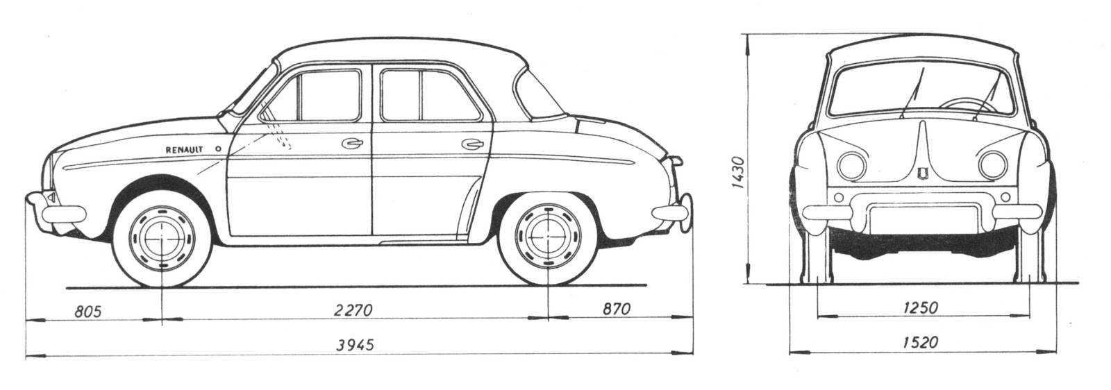 analisis de maquinas  renault dauphine  el coche de las