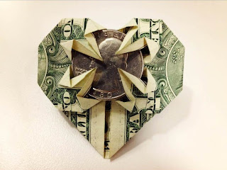 HEART w/a Quarter Dollar Origami - Made | Vincent-the-Artist | 240x320