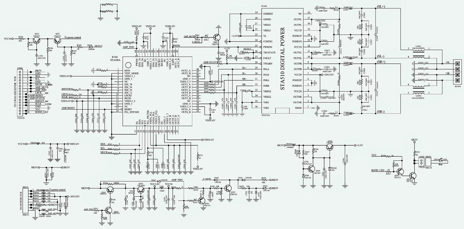 Philips Hts3548w Power Supply Schematic Circuit Diagram