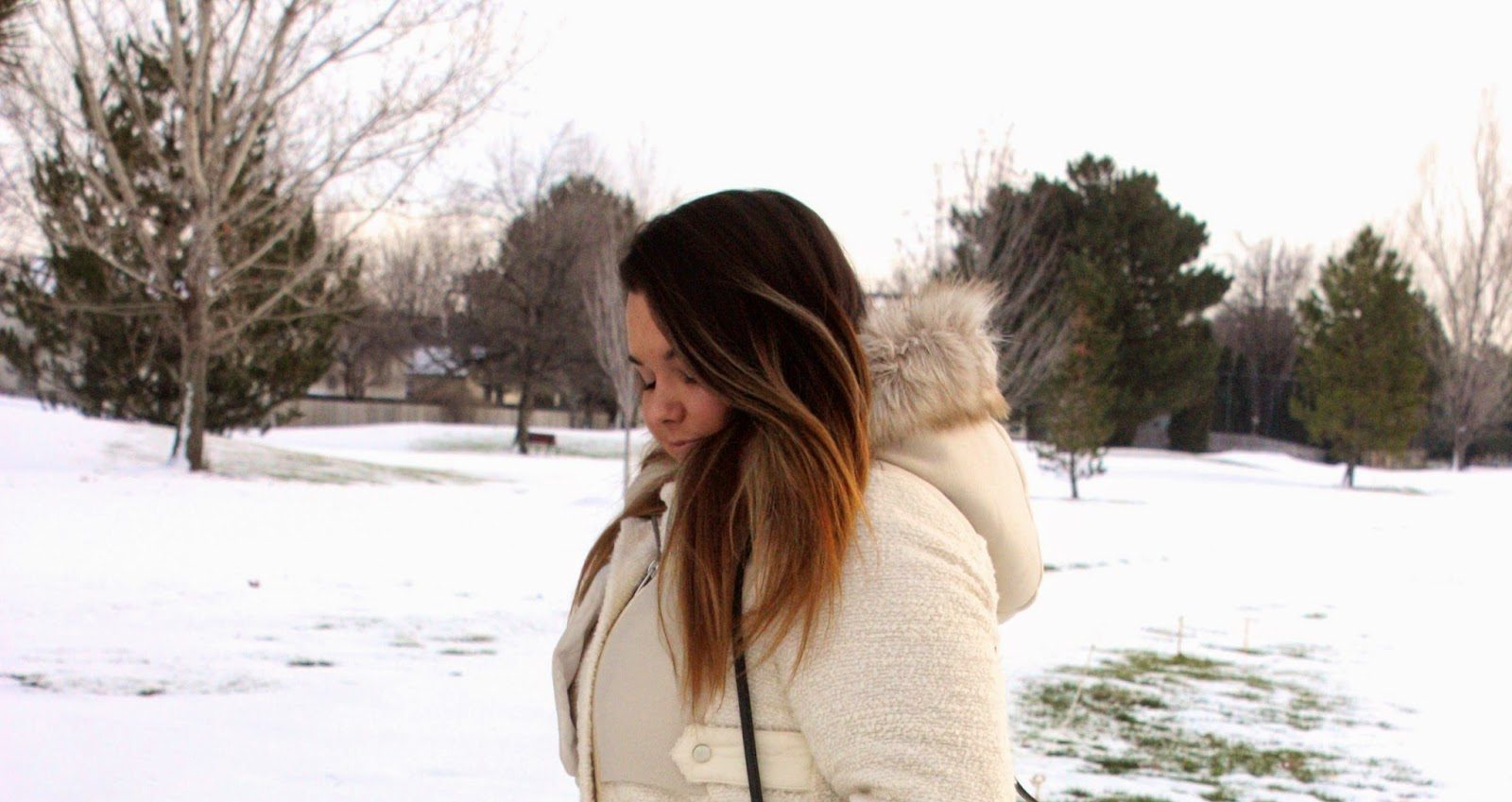 Natalie Craig, natalie in the city, chicago, boise, idaho, plus size fashion blogger, winter fashion, thick girls, curvy women, btw, body positivity, winter coats, faux fur, winter white coat, skirt, forever 21, ralph lauren purse, plus size, full figured, celebrate my size, fat acceptance, fashion,