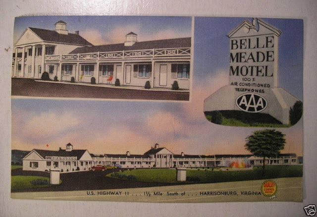 Belle Meade Motel Harrisonburg, VA postcard