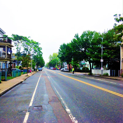 Washington St in Roslindale is Empty for the Roslindale Day Parade