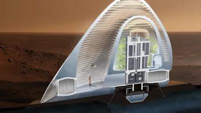 صورة افضل نماذج المعمارية للسكن على السطح المريخ