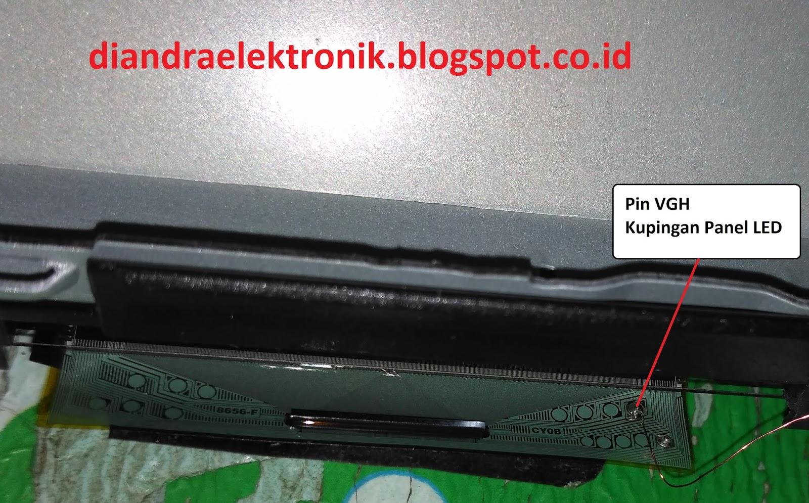 diandra elektronik: TV Led LG 32LB550A Blank Putih Kemudian Meredup