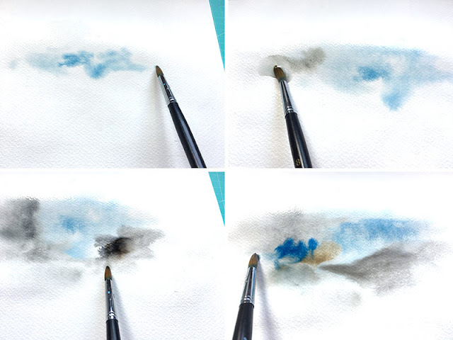 step-Come fare uno sfondo effetto Watercolor