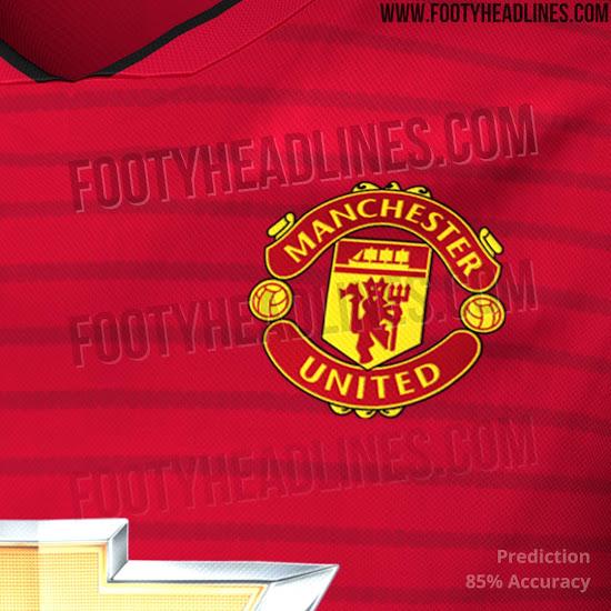 Footyheadlines Manchester United 2018 19 Season Home Kit: UPDATE: Full Manchester United 18-19 Home Kit Leaked