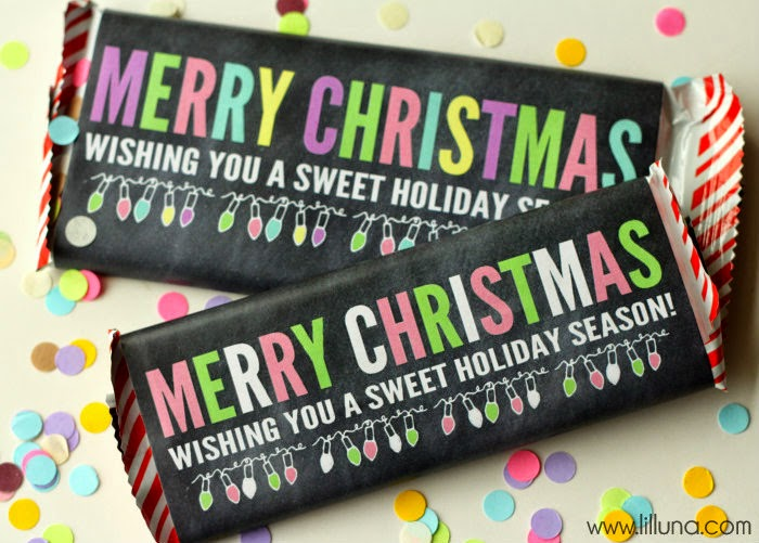 Merry Christmas Candy Bar Wrapper