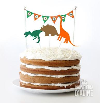 dinossauros topper bolo festa