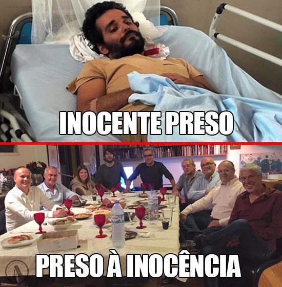 Imagens de Luaty Beirão José Sócrates – Inocente Preso Vs Preso à Inocência