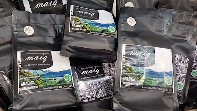 Maiq Coffee, from Mt Rinjani, Lombok, Indonesia, had medium roast Arabica coffee at the event.