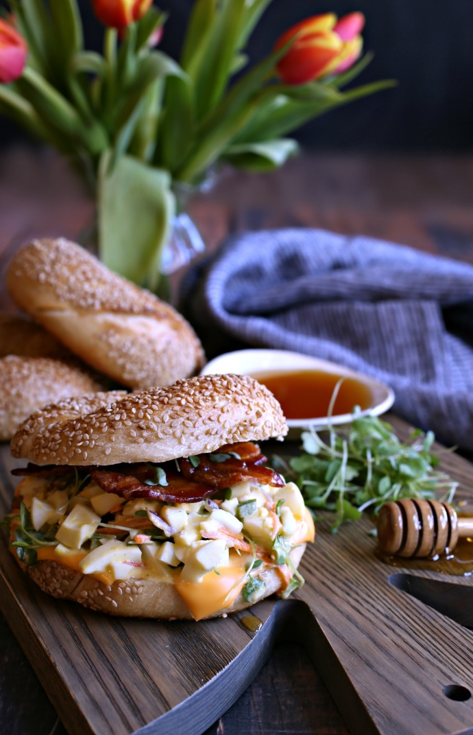 Loaded-Egg-Salad-Bagel-with-Honey-Roasted-Bacon