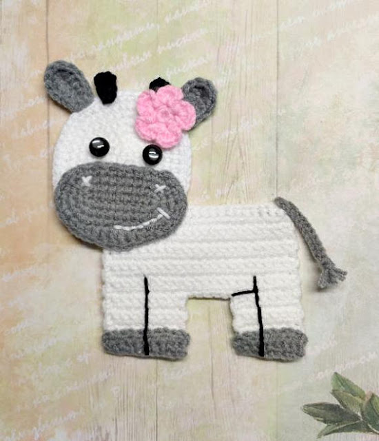 cow applique crochet pattern