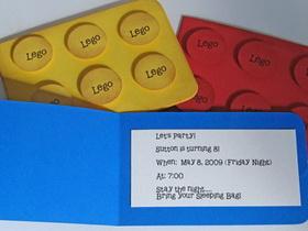żółty Balonik Lego Zaproszenia
