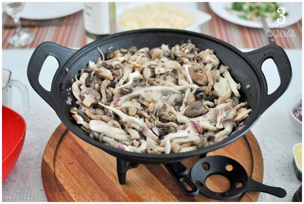risoto cogumelos