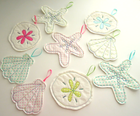 quilted Christmas ornaments