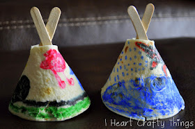 popsicle stick tortilla teepees