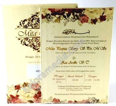 undangan pernikahan hardcover elegan