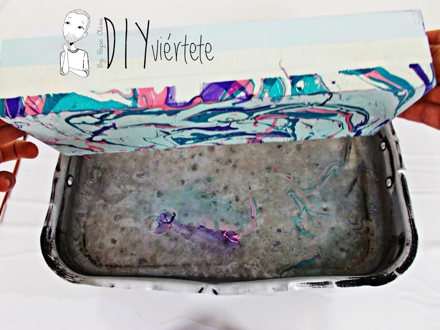 DIY-caja-madera-manualidades-marmoleado-marmolado-pinturas-Opitec-Handbox-mint-colores-vintage-12