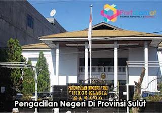 Alamat Kantor Pengadilan Negeri Se-Provinsi Sulawesi Utara