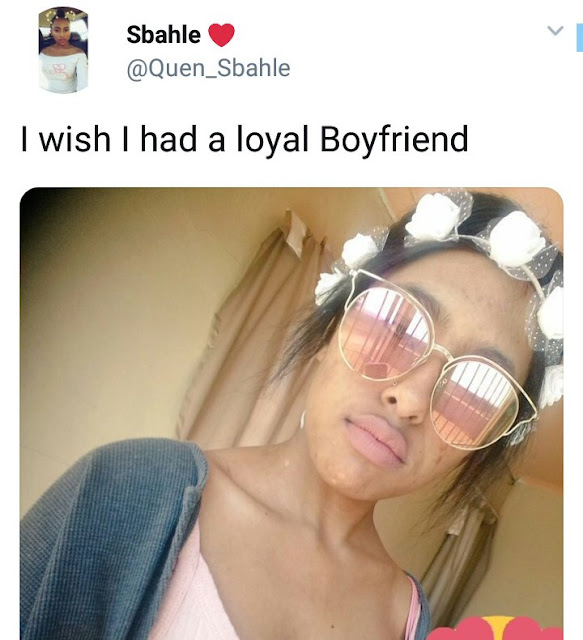 Twitter user: I wish I had a loyal boyfriend - see the epic reply she got