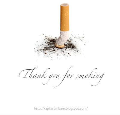Thank you for smoking © Kapil Arambam. All rights reserved