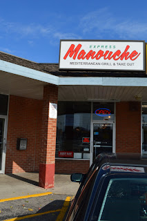 Manouche Mediterranean Grill Express Take Out sign Guelph blog